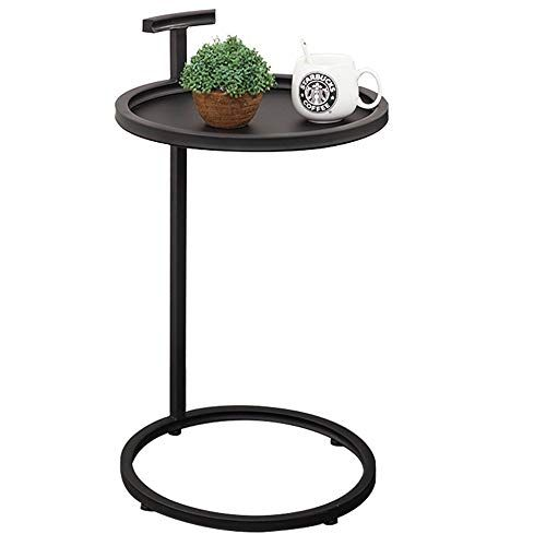 Coffee Table Side Table Wrought Iron Small Corner Small Living Room Round Sofa Black 40 40 70cm Side Table Small Living Room Round Sofa