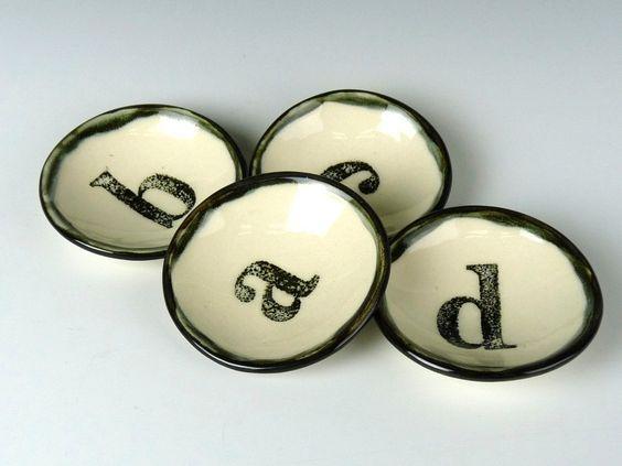 Letter Alphabet Mini Bowl. $14.00, via Etsy.