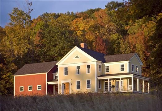 New houses being built with classic new england style for Vermont farmhouse plans