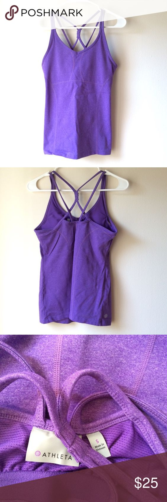 Athleta support tank - MAKE ME AN OFFER! MOVING OVERSEAS - MUST GO (or go to goodwill) !! Athleta support tank. Super cute for the gym! Barely worn - GREAT condition. Cute strap details in the back. Athleta Tops Tank Tops