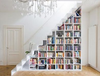 storage staircase for the loft