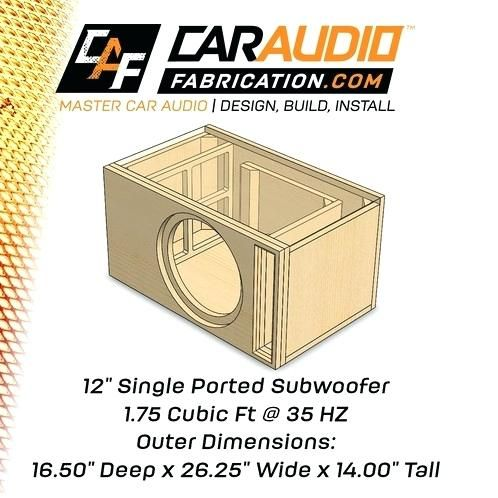 Subwoofer Box Design For 12 Inch Subwoofer Box Design For 12 Inch Pioneer Subwoofer Diy Altavoces Rines Vw