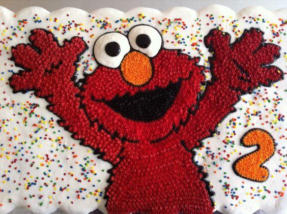 Elmo cupcakes cake: