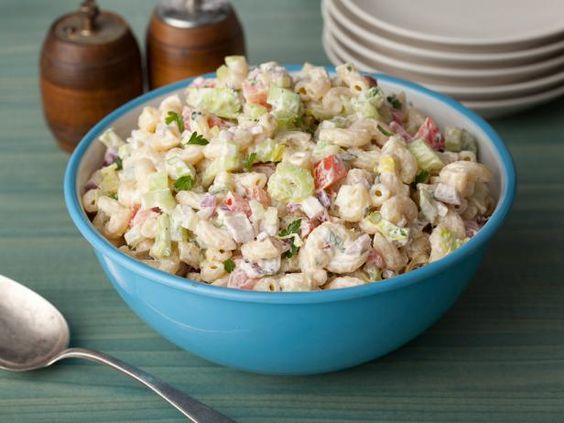 Healthy Macaroni Salad: Just a bit of mayonnaise is all it takes to add the beloved creamy texture to this surprisingly light side dish. #RecipeOfTheDay: Food Network, Network Kitchen, Side Dishes, Salad Recipes, Pasta Salads, Macaroni Salads, Recipes Salads, American Macaroni