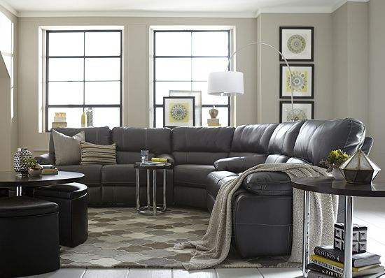Living Rooms, Blake Sectional, Living Rooms Havertys Furniture - gray leather living room sets