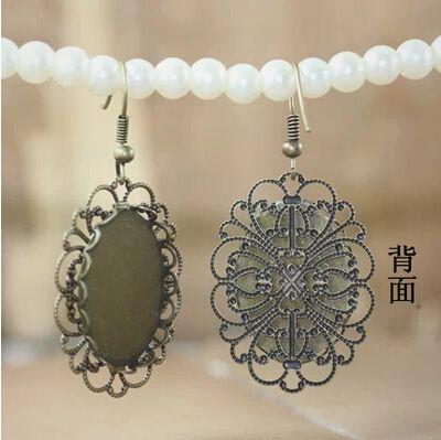 10pcs 18x25mm Bronze Ohrring-Haken Basis von chengxun auf DaWanda.com