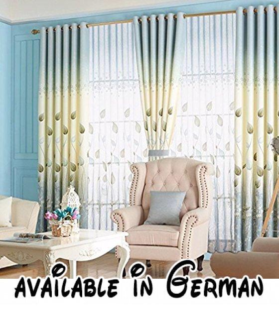 Met Love Leinen Printing Boden Vorhänge Schlafzimmer Vorhänge - vorhänge für schlafzimmer