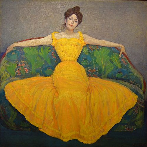 Lady in Gold, 1899, by Max Kurzweil