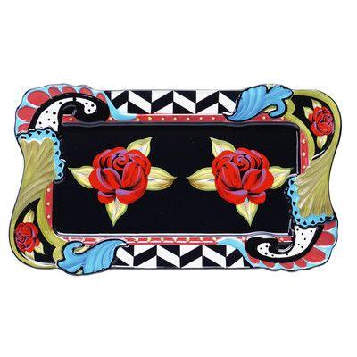 Certified International Classic Rose Rectangular Platter