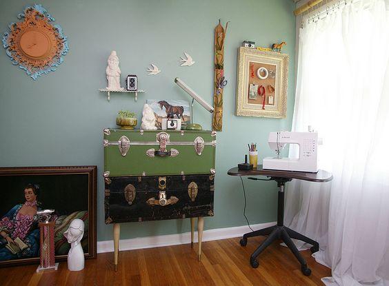 vintage chests repurposed