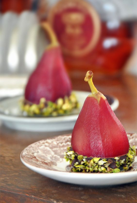 Pears, Pistachios and Poached pears on Pinterest