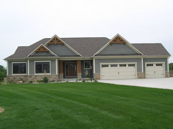 Ranch style exterior house color schemes - Craftsman Exterior Houses Pinterest Craftsman Exterior