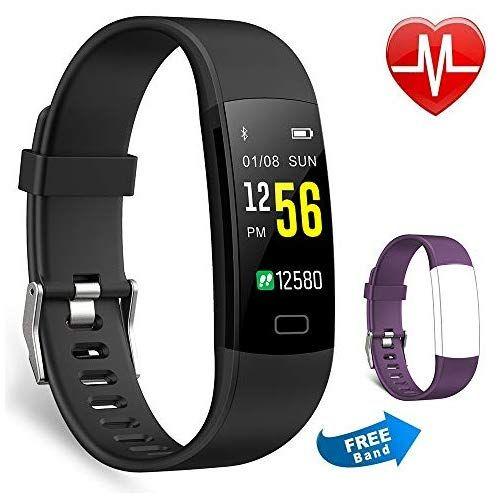 Juboury Fitness Armband Mit Pulsmesser Fitness Tracker Farbdisplay Wasserdicht Ip67 Activity Tracker Uhr Smart Wat Fitness Armband Fitness Uhr Fitness Tracker