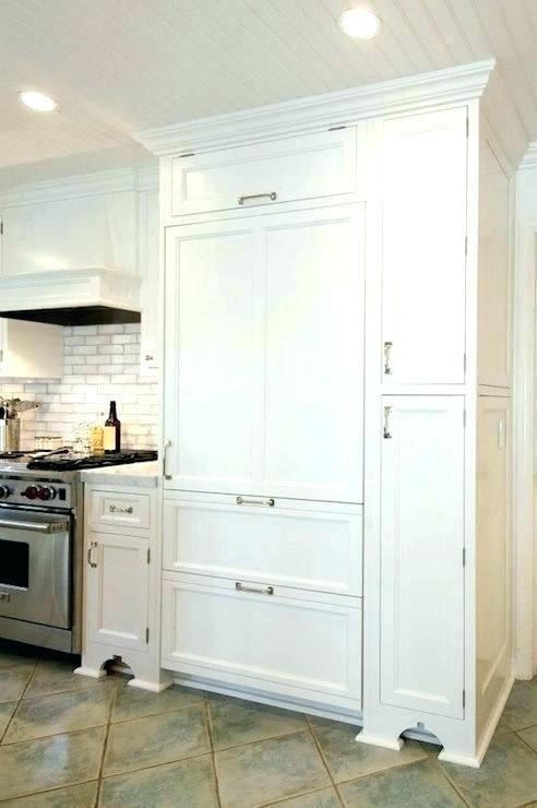 Refrigerator Wood Panel Kit Whirlpool Fridge Refrigerators Door White Ready Paneled Enclosure Cabine White Paneling White Refrigerator Bathroom Interior Design