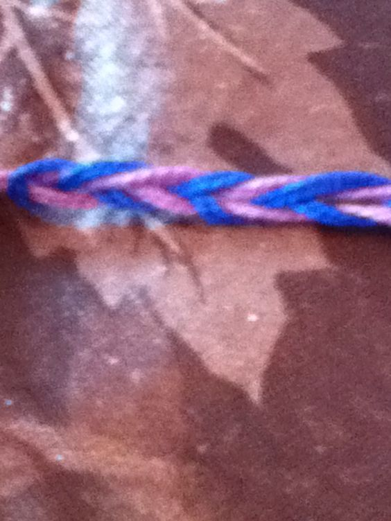 Bracelets are good and easy gifts. All you need for this bracelet is embroidery thread.