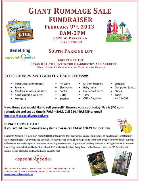 Fundraiser for Especially Needed on Feb 9th