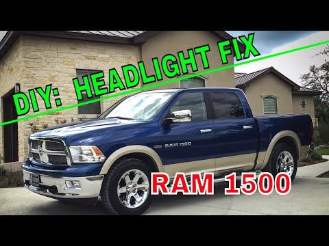 How To Ram 1500 Headlight Bulb Replacement Youtube Headlight Bulb Replacement Headlight Bulbs Headlights