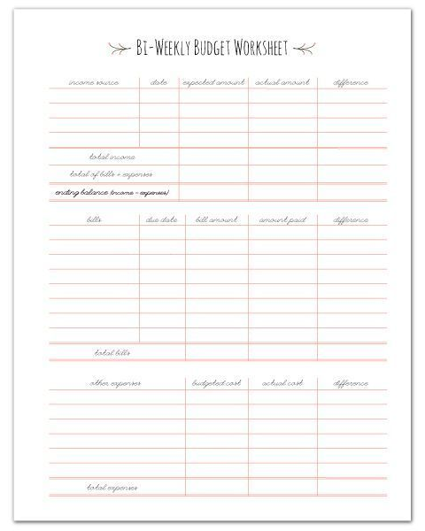 photograph relating to Bi Weekly Paycheck Budget Printable known as Totally free PRINTABLE Paycheck Funds Worksheet! //