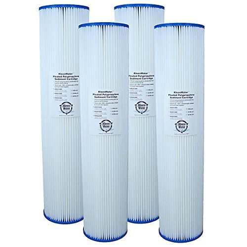 Pleated Dirt Rust Sediment Water Filters Kleenwater 4520br Whole House Replacement Cartridges 4 5 X 20 Inch 5 Micron Water Filter Replacement Filter Filters