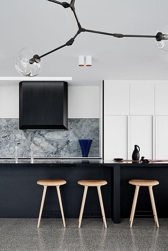 marmeren achterwand keuken