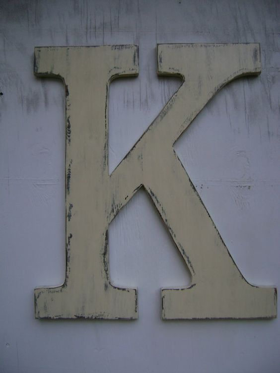 Large wooden lowercase letter quotkquot wedding decor photo prop for Large wooden letter k