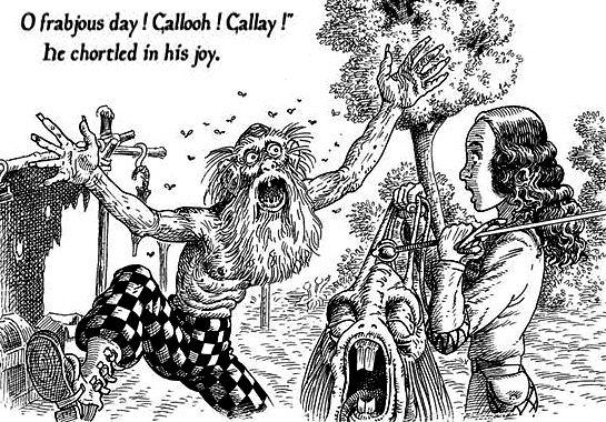 O frabjous day!   Jabberwocky, Humanoid sketch, Art