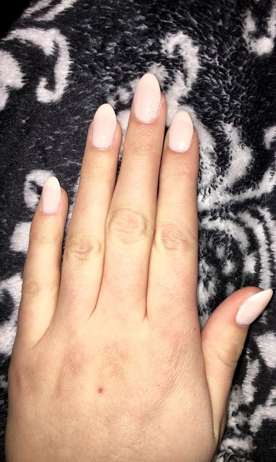 Neutral Pink Almond Nails   My Creations ♡   Pinterest   Pink ...