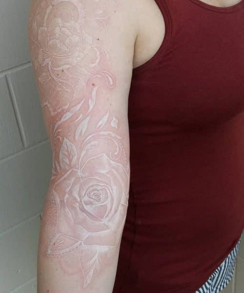 Pin By Artemis Fray On Inked Magic White Ink Tattoos Healed White Tattoo Ink Tattoo