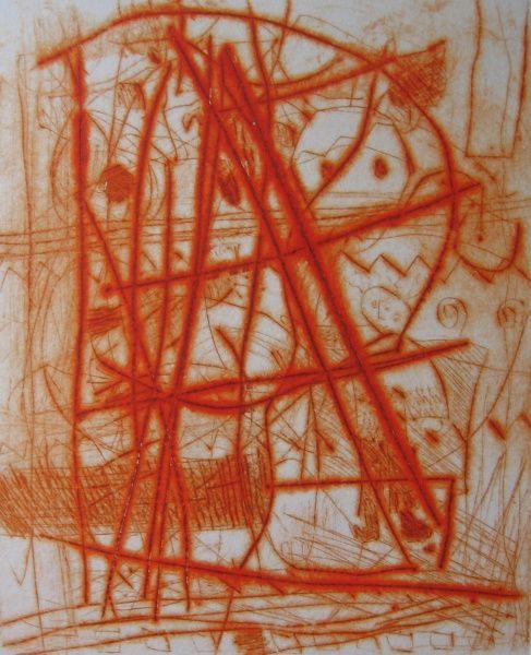 Chaos, by the Slovenian printmaker, Sabina Siler Hudoklin