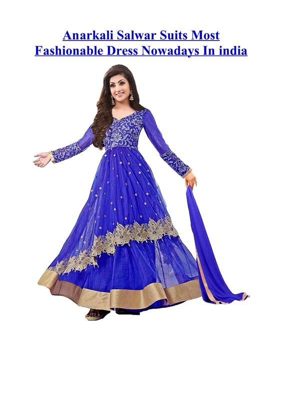 You can easily find out these splendid varieties of Anarkali suits online and get them delivered at your door step.