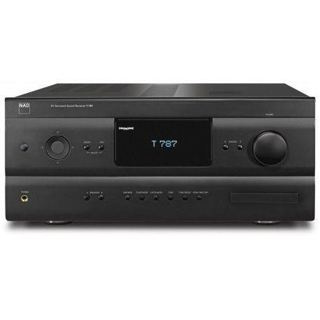NAD T 787 - Receptor de A/V de altas prestaciones de 7.1 canales. 7 x 200 W. Sistemamodular MDC.Circuiteria de salida Power Drive y sistema de proteccion Softclipping exclusiva de NAD.Descodifica Dolby Digital, Dolby Digital EX, DolbyPrologic 2x,Dolby TRUE HD,DTS HD Master Audio, DTS,DTS ES,DTS 96/24,DTS Neo… D/A de alta calidad.Sintonizador AM/FM con funciones RDS y 40 presintonias.7 entradas HDMI. #homecinema