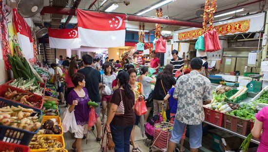 Chợ Ướt (Wet Market) đã trở thành một nét văn hóa đặc biệt của Singapore.