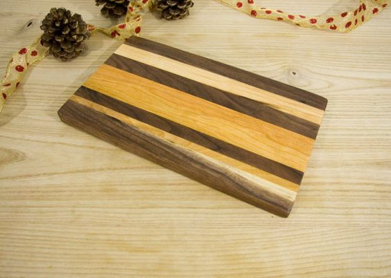 Striped Cheese Board/ Cutting Board by KandJWoodCrafts on Etsy