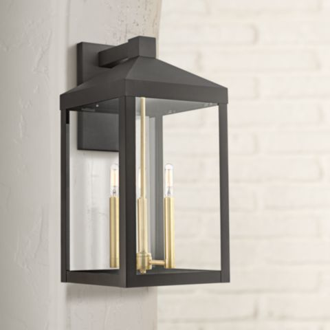 Nyack 21 3 4 High Bronze Outdoor Wall Light 42m60 Lamps Plus In 2019 Wall Lights Contemporary Outdoor Lighting Outdoor Wall Lighting