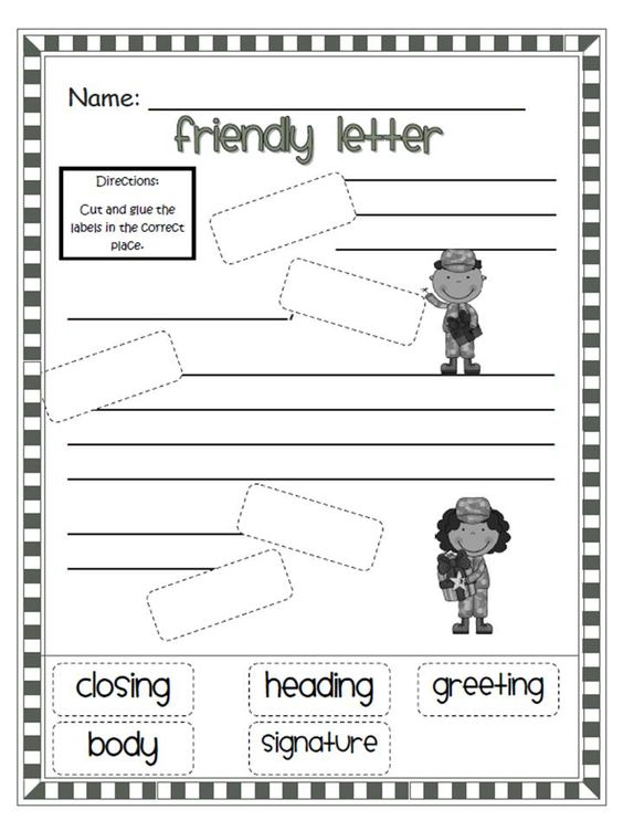 FREE Letter Writing Templates for Children Letter writing - letter writing template