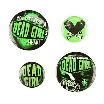Kreepsville 666 Button 4er-Set DEAD GIRL