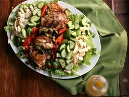 Composed Mediterranean Chicken Salad From Cooking Channel