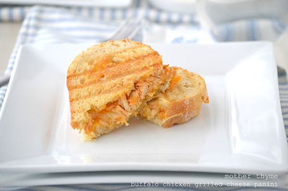 Buffalo Chicken Grilled Cheese Panini