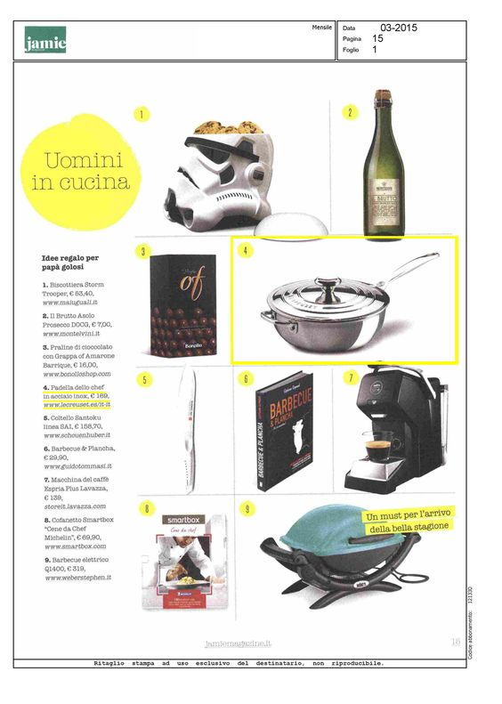 Le Creuset su Jamie magazine Italia #food #cucina #ricette #design #kitchen #kitchendesign #acciaio #inox #newline #news #novità