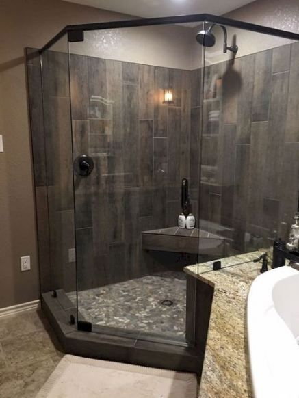 62 Ideas Bath Room Ideas Wood Tile Basements Bath With Images