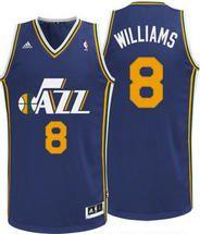 NBA Utah Jazz Deron Williams #8 Navy Adidas Jersey