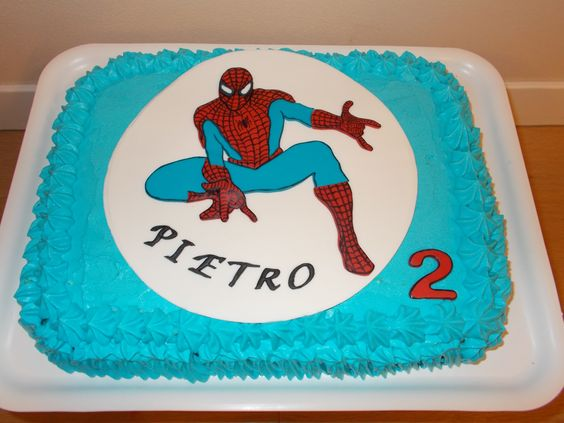 Torta spiderman - cialda