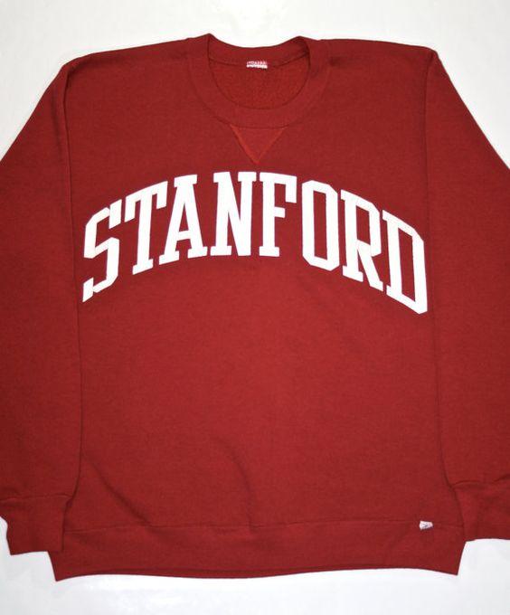 Vintage 90s Stanford Sweatshirt available at VintageMensGoods on Etsy, $30.00