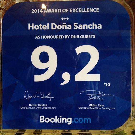 Nos acaba de llegar esta placa. AGRADECEMOS A TODOS NUESTROS CLIENTES SUS COMENTARIOS!  Gracias a ellos sobre todo y a nuestro trabajo, tenemos esta buena puntuación de la agencia online que mas vende en todo el mundo. @bookingcom #hotel #hotelrural #hotelencanto #covarrubias #burgos #castillayleon #spain  www.hoteldonasancha.es