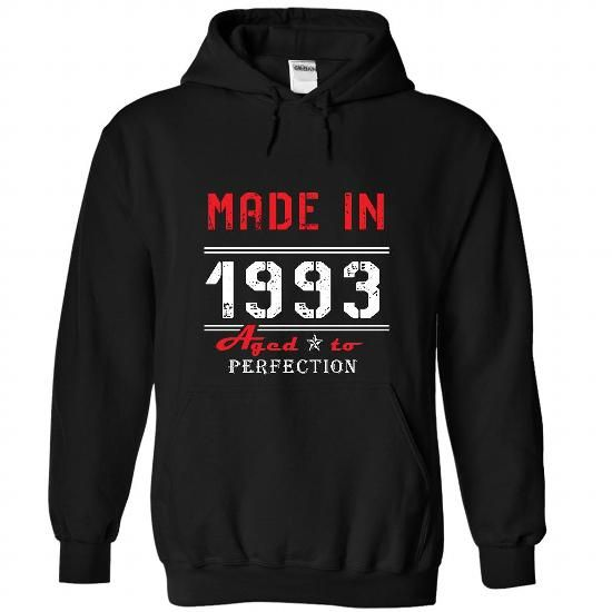1993 AGED AGED To Perfection T Shirts, Hoodies. Check Price ==► https://www.sunfrog.com/No-Category/1993-AGED--AGED-To-Perfection-6451-Black-46256238-Hoodie.html?41382