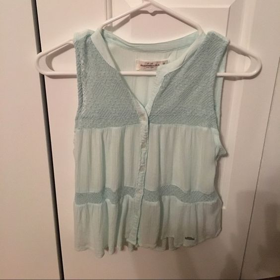 Abercrombie mint teal top Cute top, never worn, size XS Abercrombie & Fitch Tops Blouses