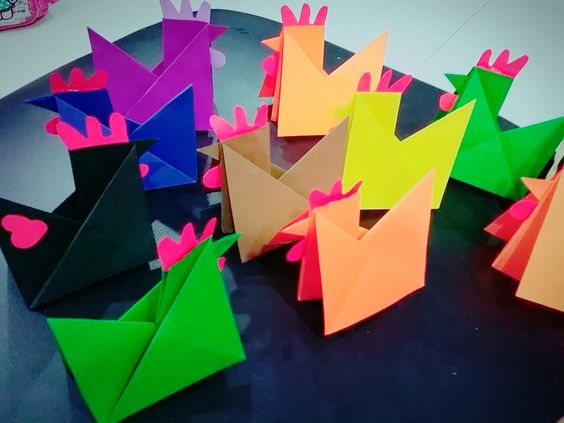Origami Rooster Chinese New Year Craft Art And Crafts