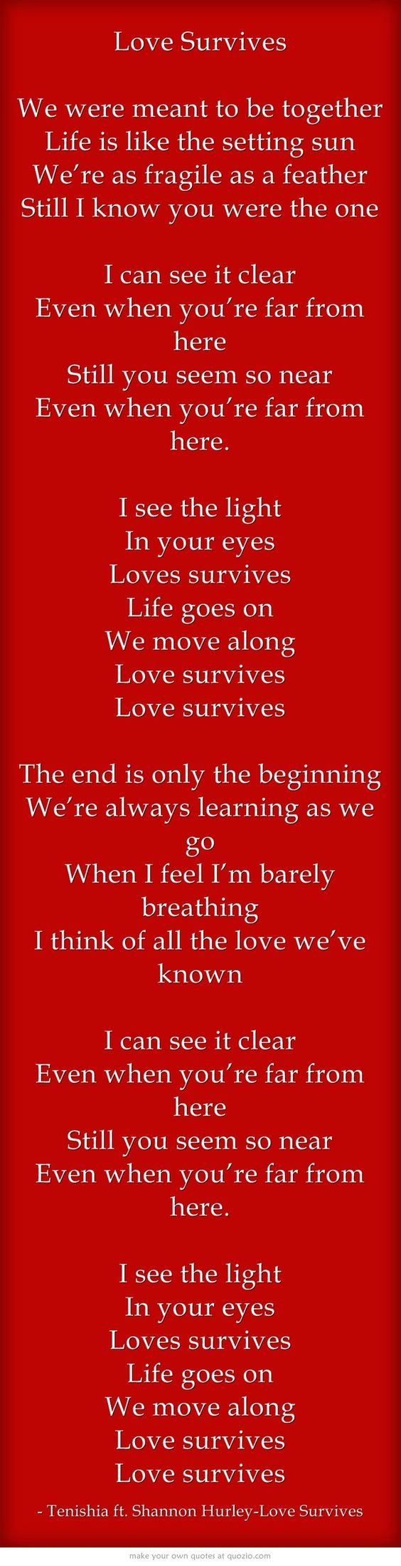 Tenishia ft. Shannon Hurley-Love Survives #lyrics #shannonhurley #music #tenishia #quotes #trance #edm