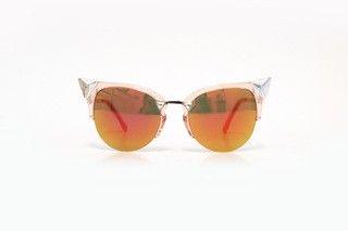 Óculos cat eye rosa espelhado