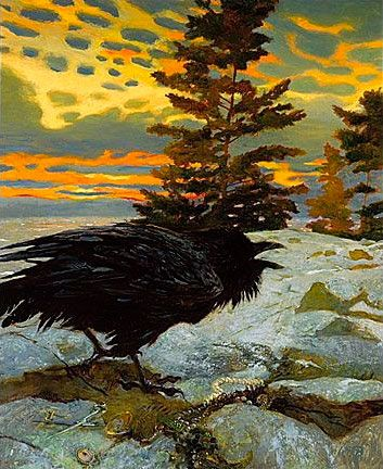 Thief, Jamie Wyeth. Jamie is breaking away from the subdued colors his father uses and experimenting with brighter paint.